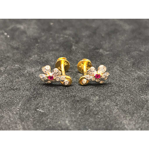 22k ladies fancy gold earring e-62863