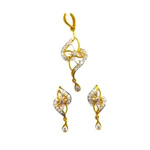 916hn gold fancy ladies pendant set