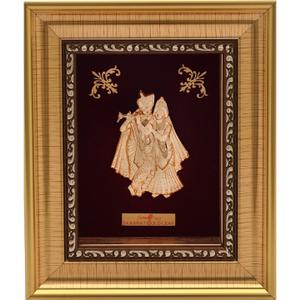 Radha krishna 999 gold frame