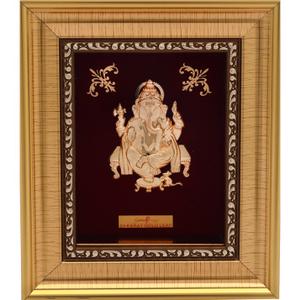 Ganeshji 999 gold frame