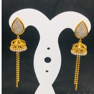 18 carat cz gold drop bt0052