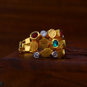 22kt gold color gemstone ring lar68