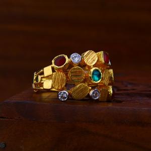 22kt gold color gemstone ring lar68