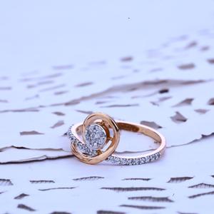 Ladies rose gold ring-rlr203