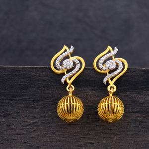 916 gold s shape earring jhummar lje203
