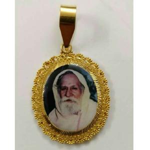 22kt gold gents religious pendant