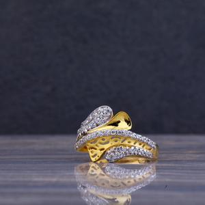 22ct gold designer cz ring llr58