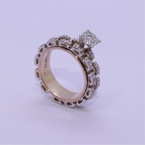 18k gold diamond ring agj-lr-302