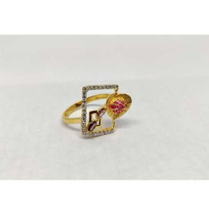 916 ladies fancy gold ring lr-17057