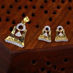 916 gold cz pendant set ps-0010