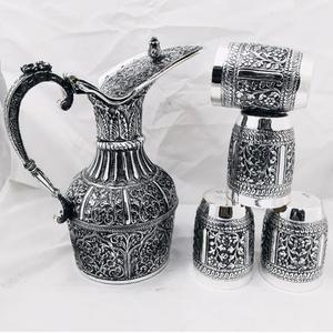 925 pure silver stylish jug glasses set in de