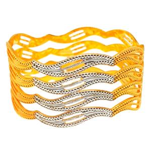 1 gram gold forming fancy bangles mga - bge04