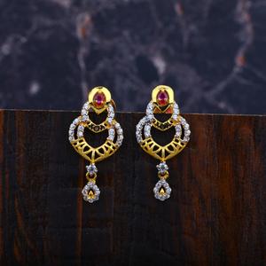 22k gold ladies 916 earrings-lfe75