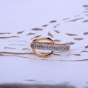 Ladies daily wear delicate rose gold ring-rlr