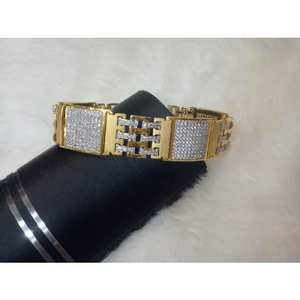 22k mens fancy heavy bracelet g-9681