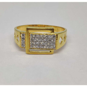 22k gents fancy gold ring gr-28585