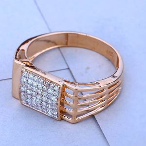 18k(750)rose gold gents diamond ring