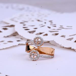 Ladies rose gold 18k designer ring-rlr287