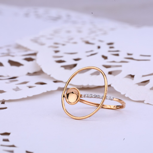 Delicate rose gold ladies 18k ring-rlr326