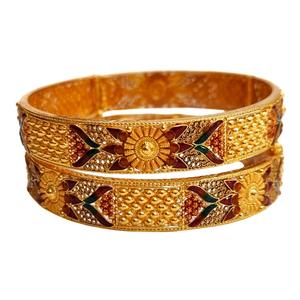 22k gold meenakari designer patla bangles mga