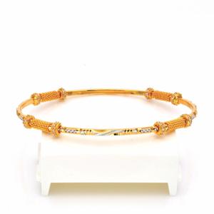 Gold hallmark casting stone bangle - cct862