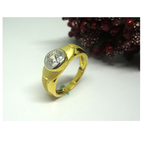 916 cz gold diamond ring