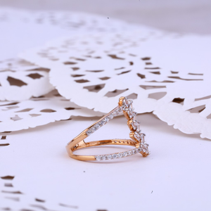18k rose gold ladies ring-rlr261