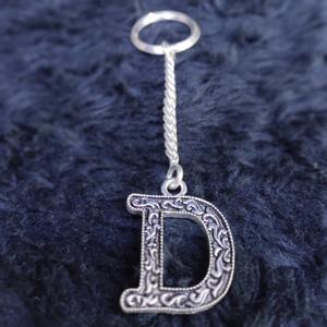 Silver alphabetic keychain sky-48