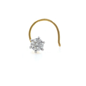 18kt / 750 yellow gold classic single 0.12 ct
