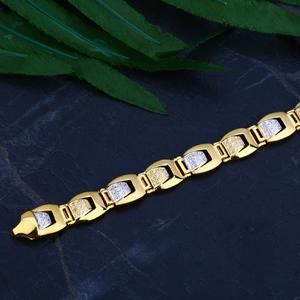 Mens gold 916 bracelet-mcb50