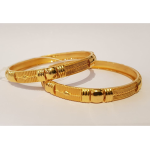 22kt gold fancy bangle kada gk-b04