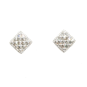 925 sterling silver square shaped earring mga