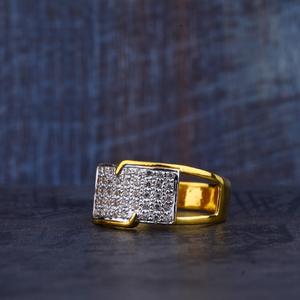 Mens gold cz ring-mr343