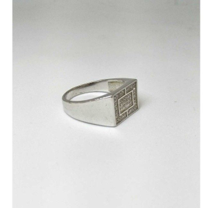 925 sterling silver ad diamond gents ring