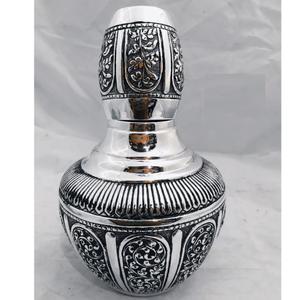 925 pure silver kunja surayi set with glass p