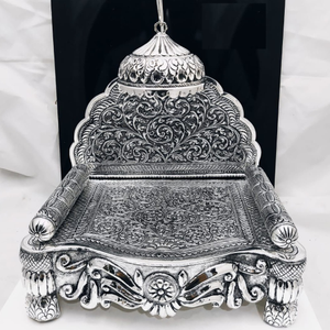 92.5 pure silver antique solid singhasan in f