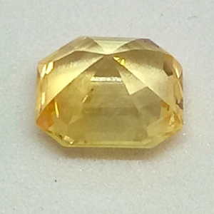 4.11ct rectangle yellow yellow-sapp