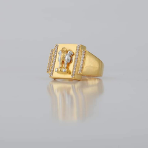 22kt/916 yellow gold stately ashok stambh rin