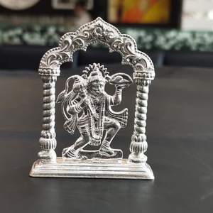 Silver hanumanji murti