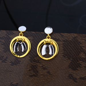 Ladies 22k gold plain earring -lpe01