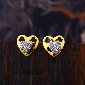 22kt diamond heart shape hallmark  earring lf