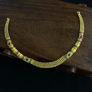 22kt gold new stylish design hallmark necklac