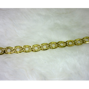 Gold light weight gents bracelet