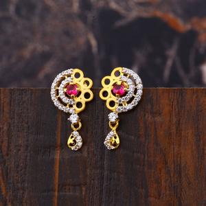 Ladies 916 gold new designer earring  -lfe255