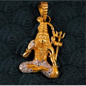 22k shiv pendants