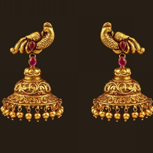 22 kt 916 gold earring with zummer