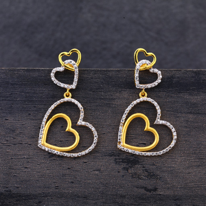 916 gold hallmark heart design jhummar earrin