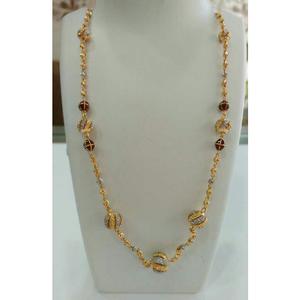 22k gold fancy pendant chain nj-c055