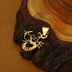 Om trishul gold 18k hollow god pendant-hlp45