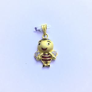 Honey bee fancy gold pendant